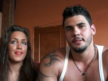 Lucia, de Miss Sevilla al porno en s�lo tres a�os, con su novio Dani