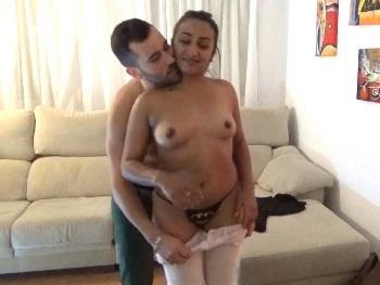 19yo Brazilian girl comes to get her ass busted by her 29yo boyfriend