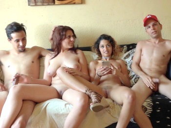 Beatriz (18) and Scarlet (19), ALMOST VIRGINS (and a little bisexual) in THEIR FIRST SWAP. They've never tasted a different cock than their boyfriends